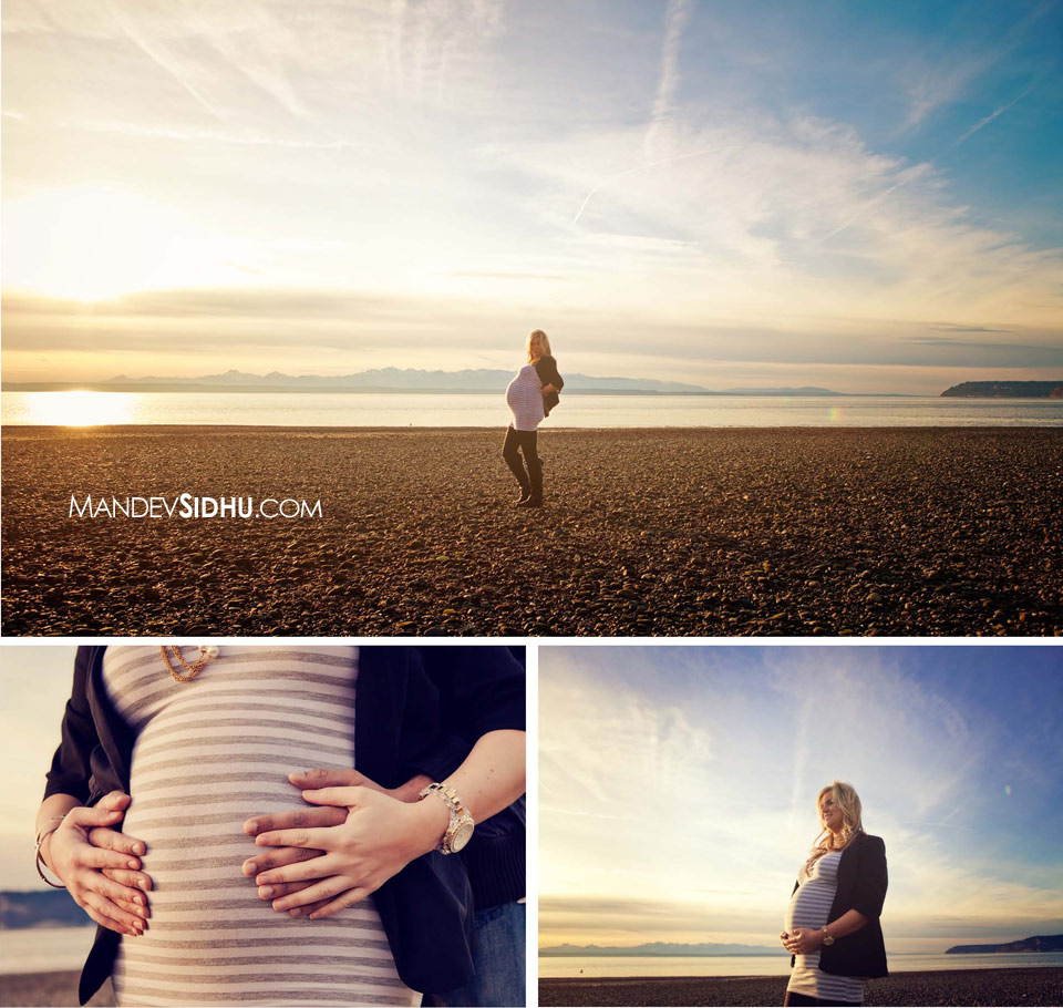 Maternity pictures on the beach