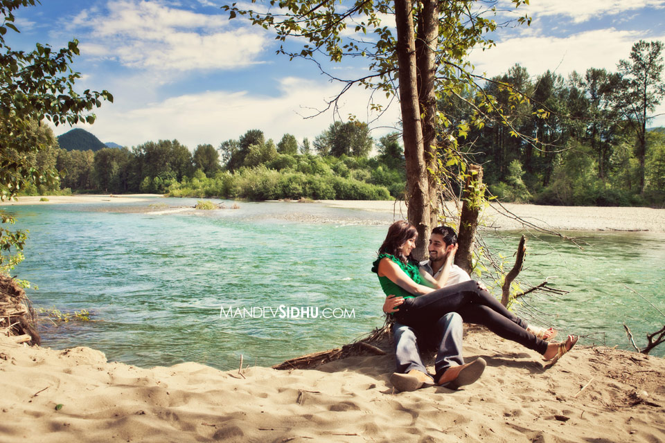 Indian Engagement Photo Snoqualmie