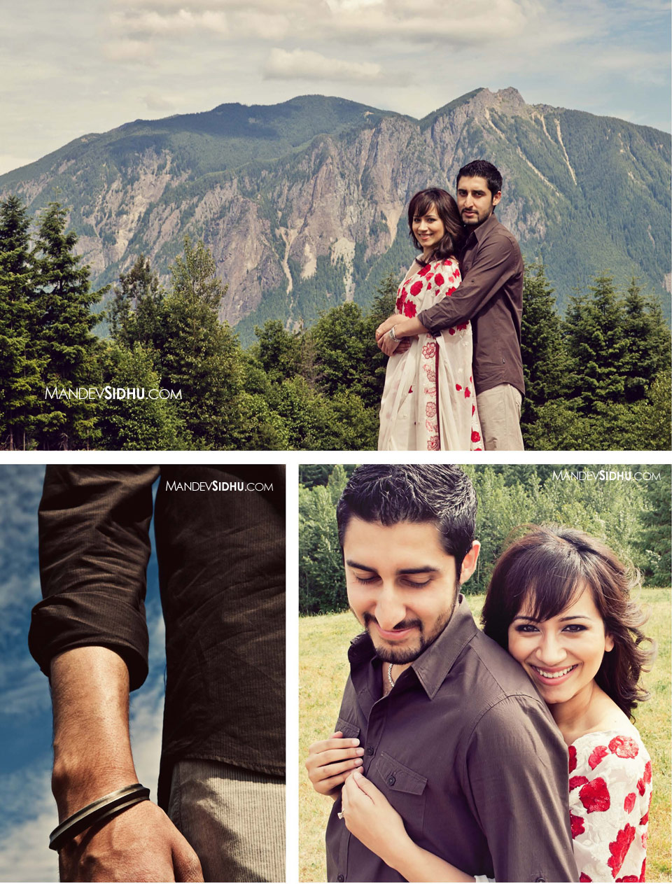 Engagement Portraits with Cascade Mountains