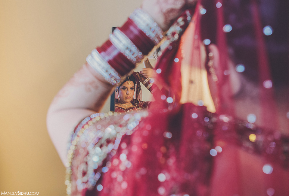 Sikh Bride's Red Lehenga