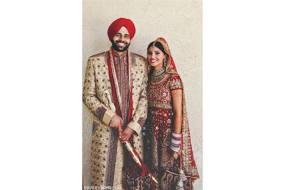 Traditional Sikh Bride and Groom
