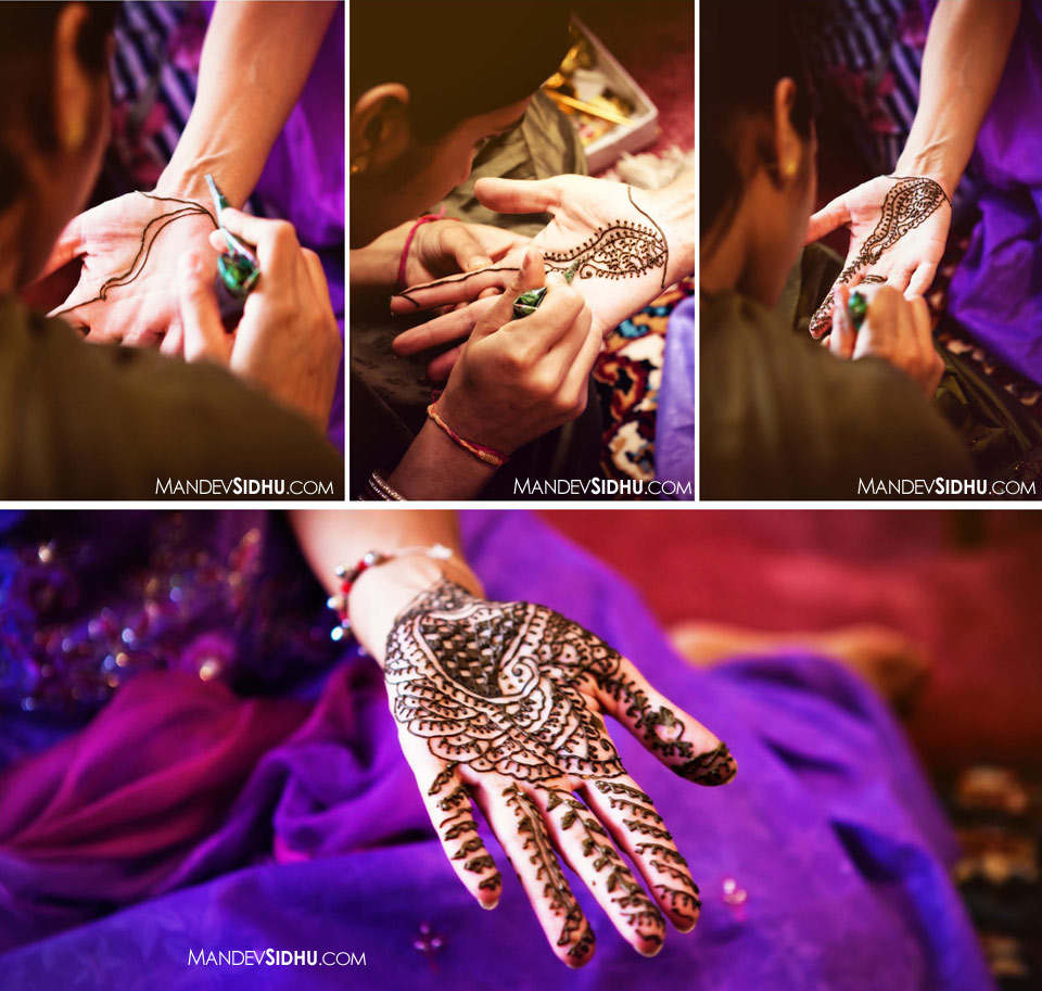 Sikh Wedding Mehndi on Hands