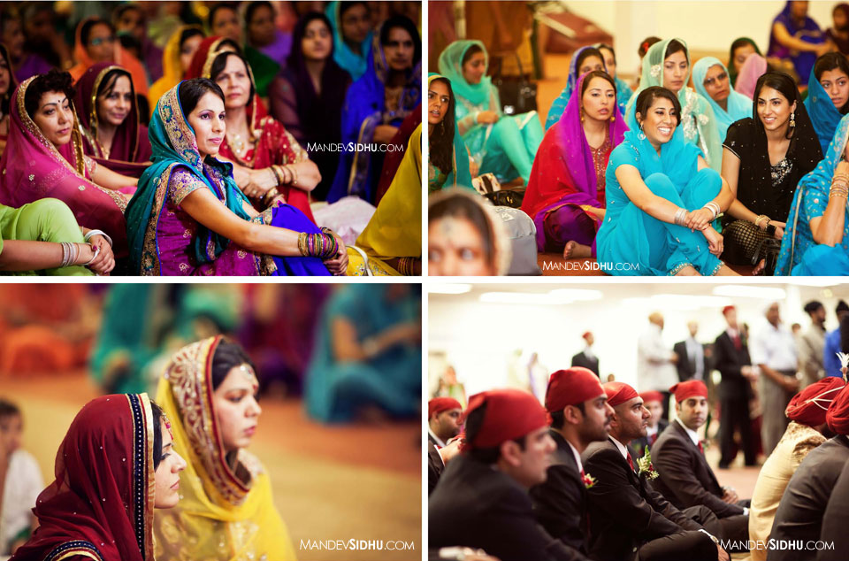 Photos of the congregation at the gurdwara