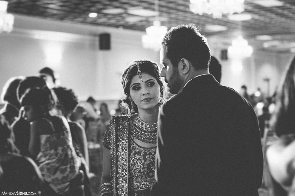 indian-wedding-reception-bride-bw