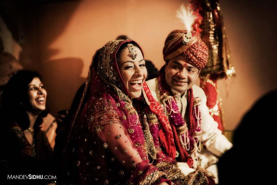 Hindu Bride laughing