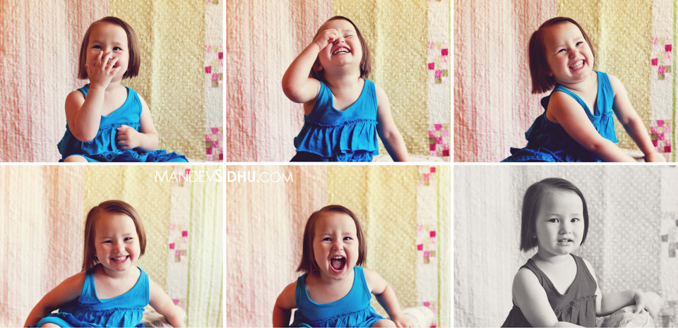 super adorable girl multiple expressions portrait
