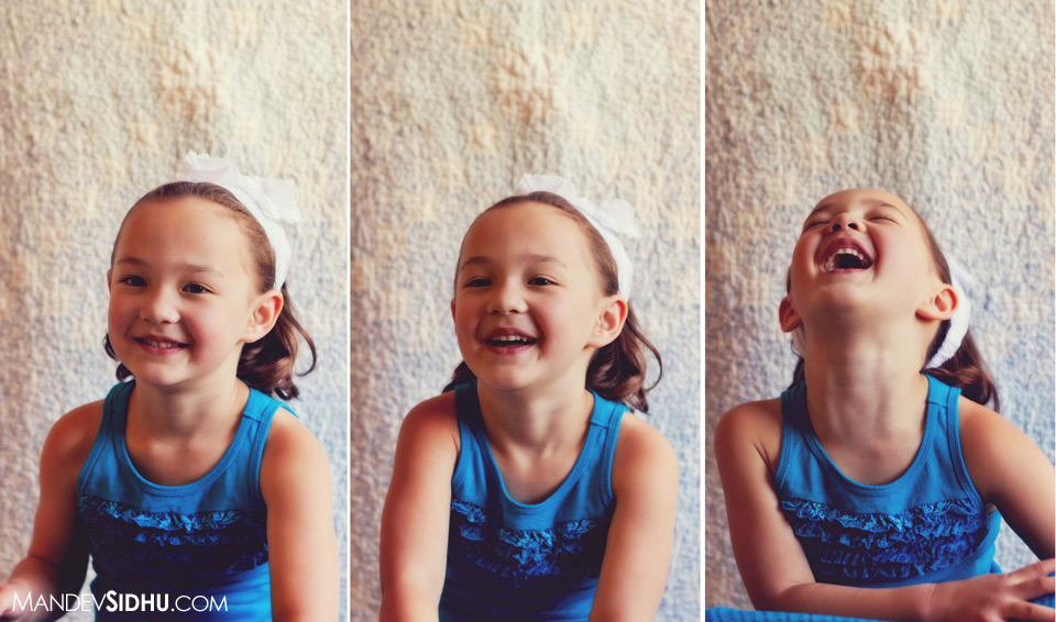 daughter laughing in front of the camera