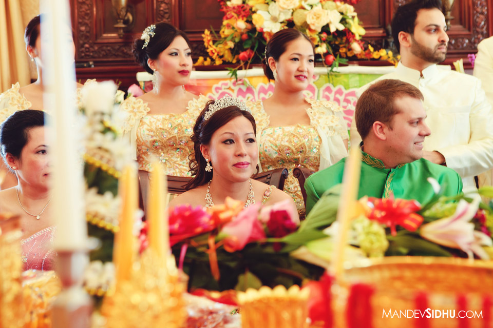 beautiful bride at her Khmer ceremony