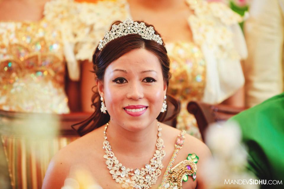 happy smiling cambodian bride princess