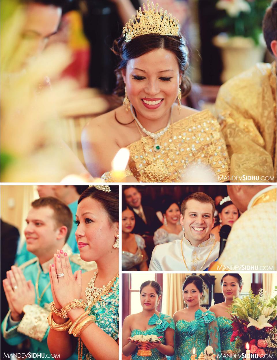 Cambodian Khmer wedding photography