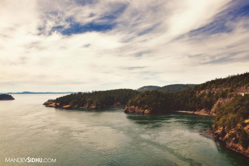Deception Pass Bridge view of the Puget Sound