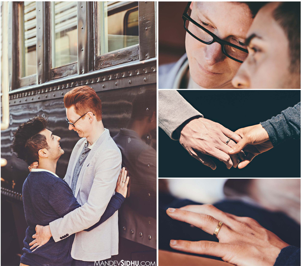 same-sex engagement photography seattle