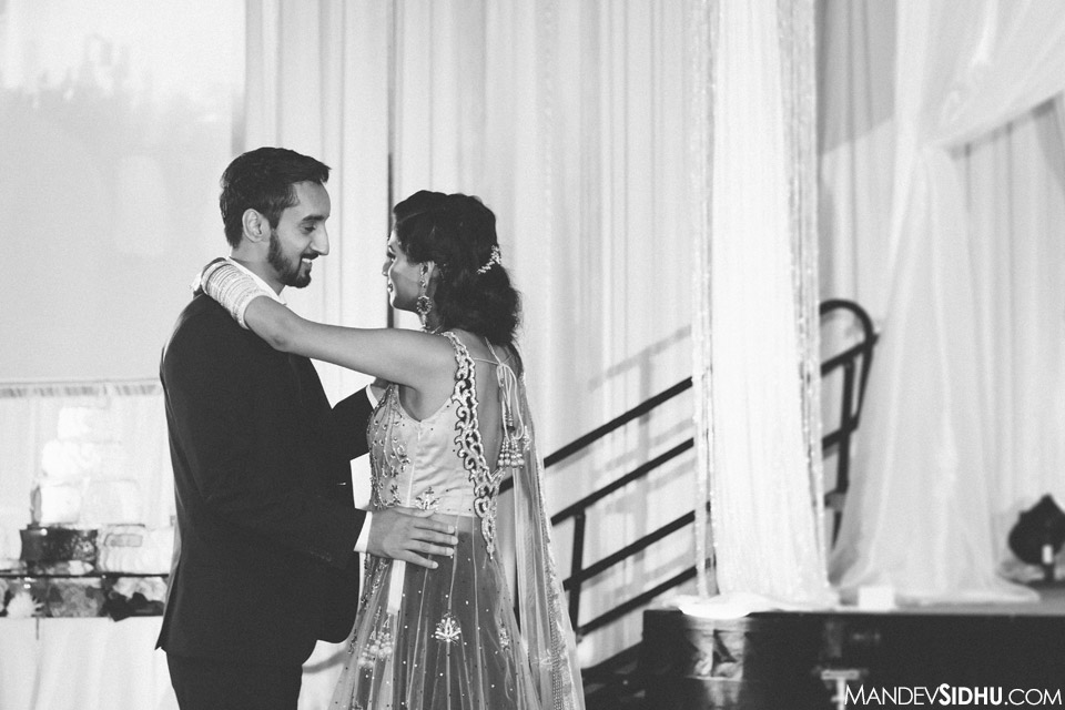 sikh wedding photography seattle first dance at reception