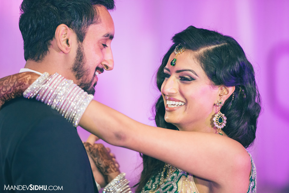 sikh wedding photography seattle reception first dance