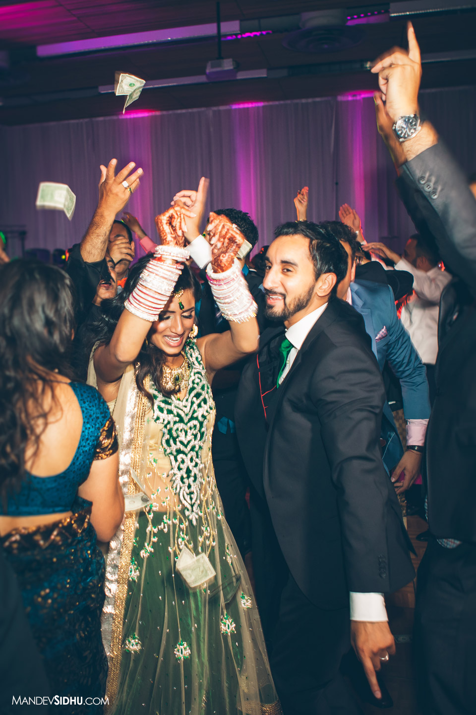 reception dancing indian wedding photography seattle