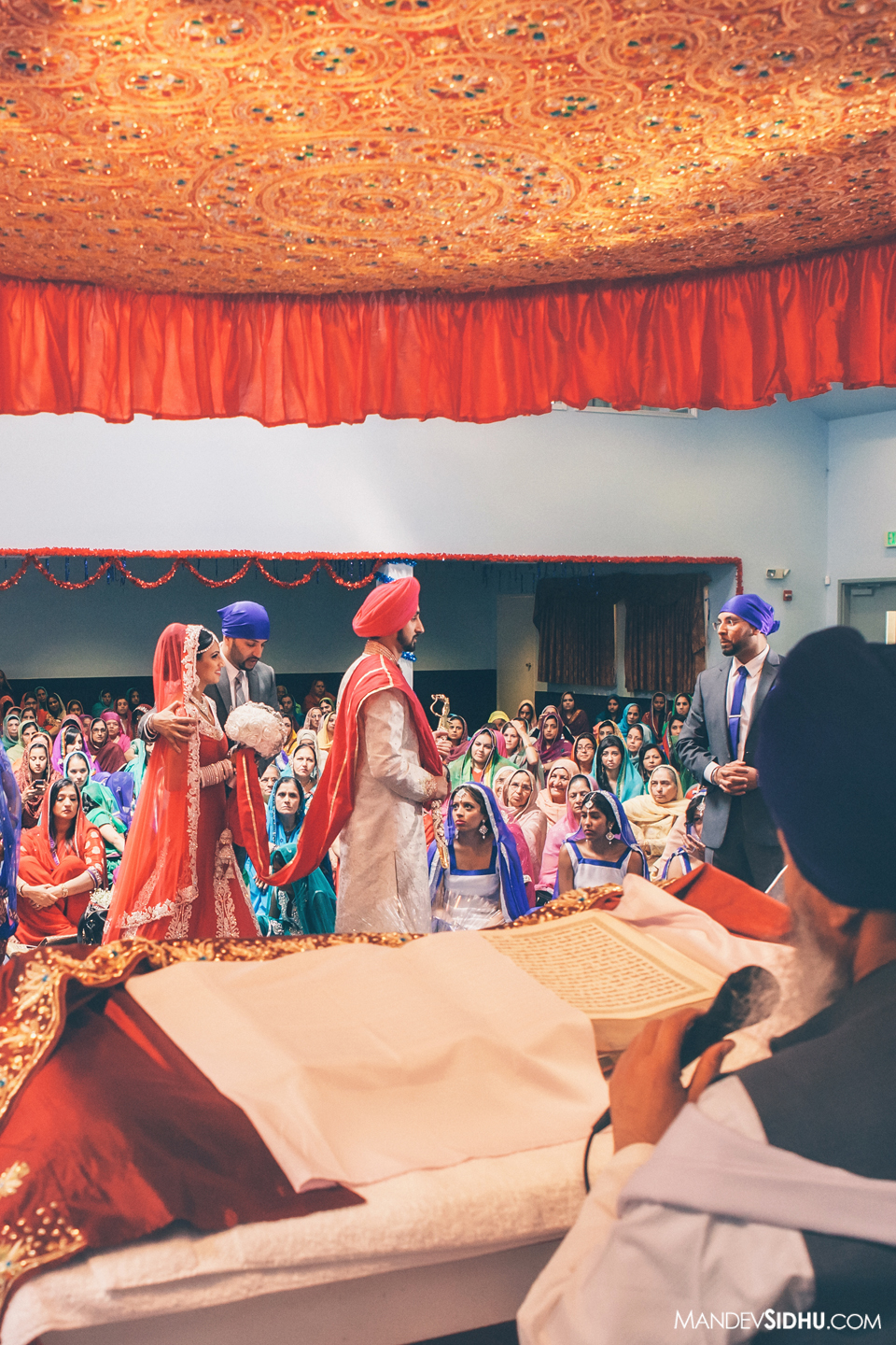 lavaan in gurdwara during sikh wedding