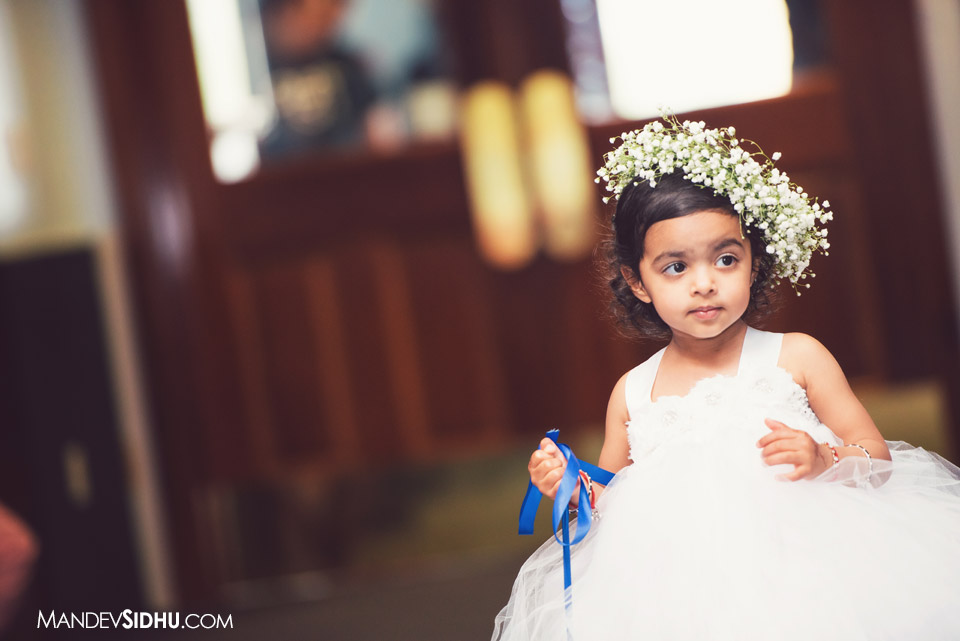 sikh wedding flower girl