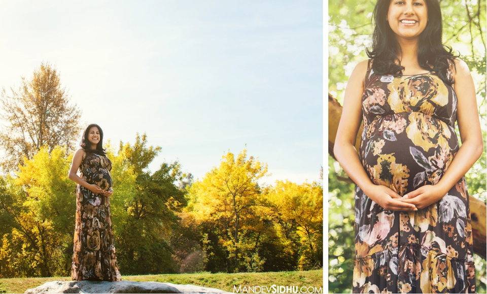 Fall Maternity Photos on Mercer Island