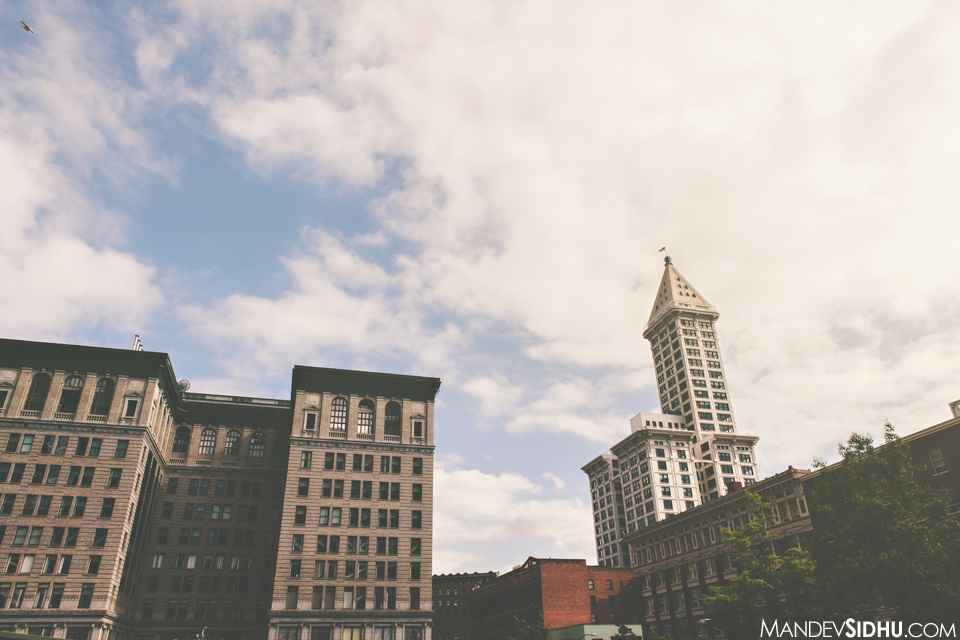 downtown Seattle Smith Tower Arctic Club Wedding