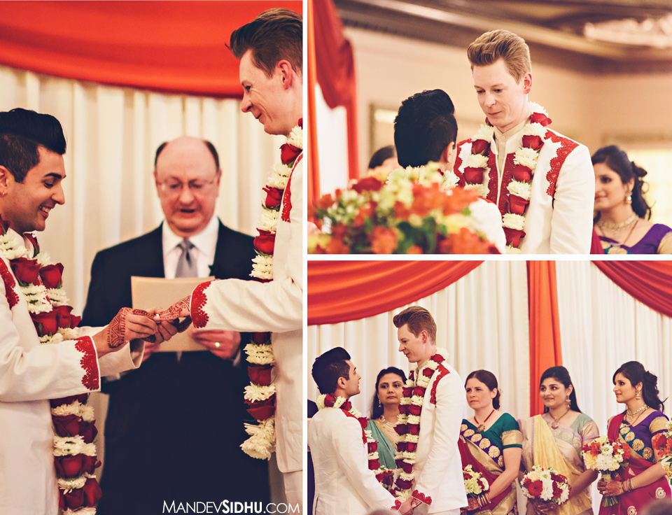 marriage ceremony at Arctic Club downtown seattle