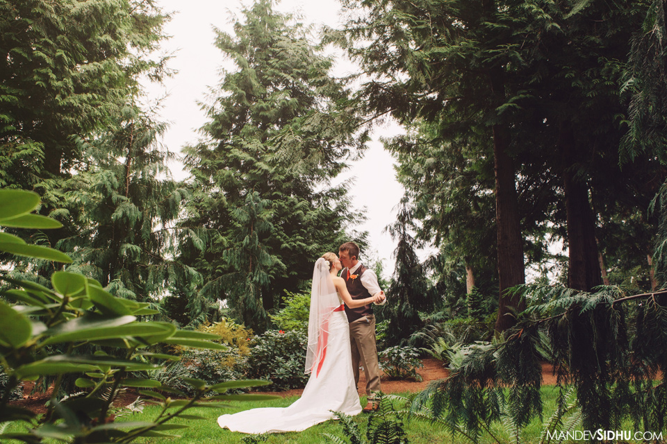 Outdoor wedding Evergreen Gardens