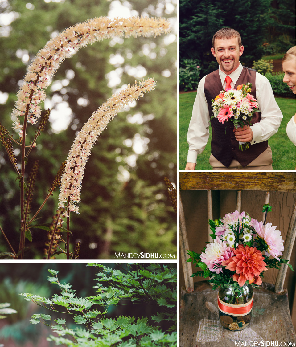 flowers outdoor wedding Whatcom county