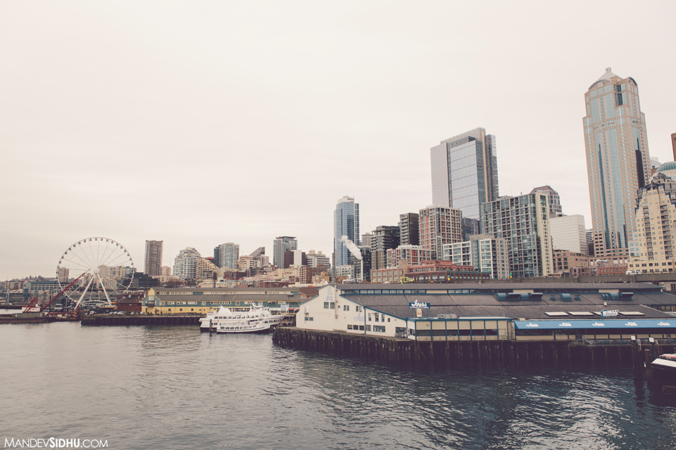 View of downtown Seattle from Ferry