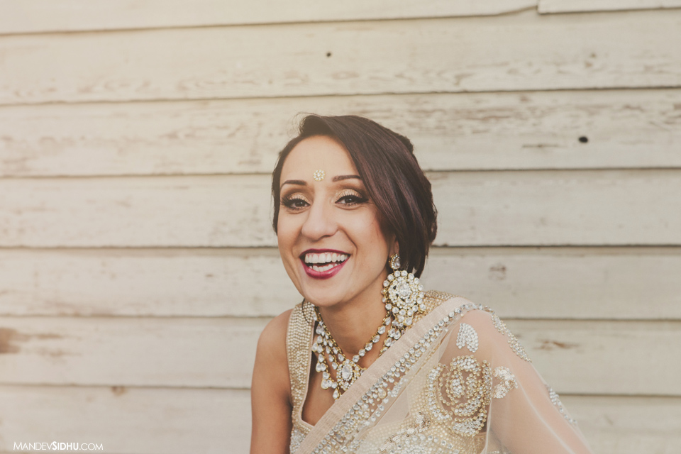 Happy, laughing, Indian Bride