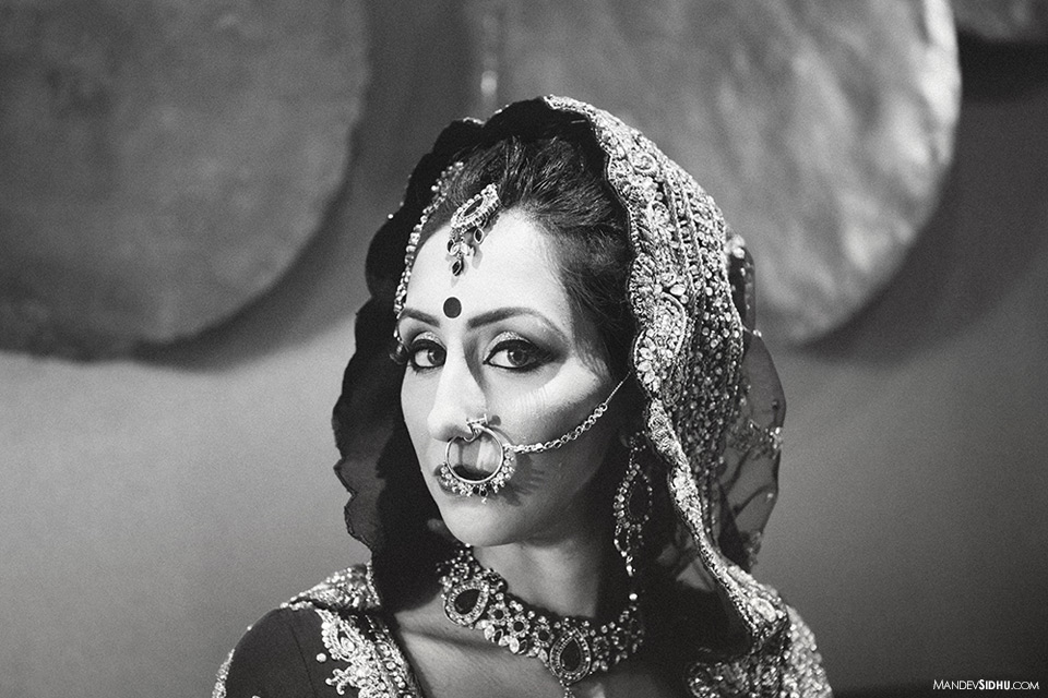 Modern Indian bridal photo in Seattle