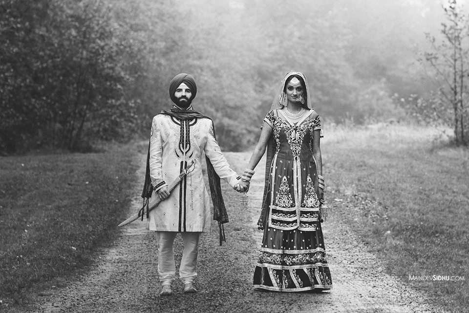 Indian Sikh Bride and Groom Photo Seattle