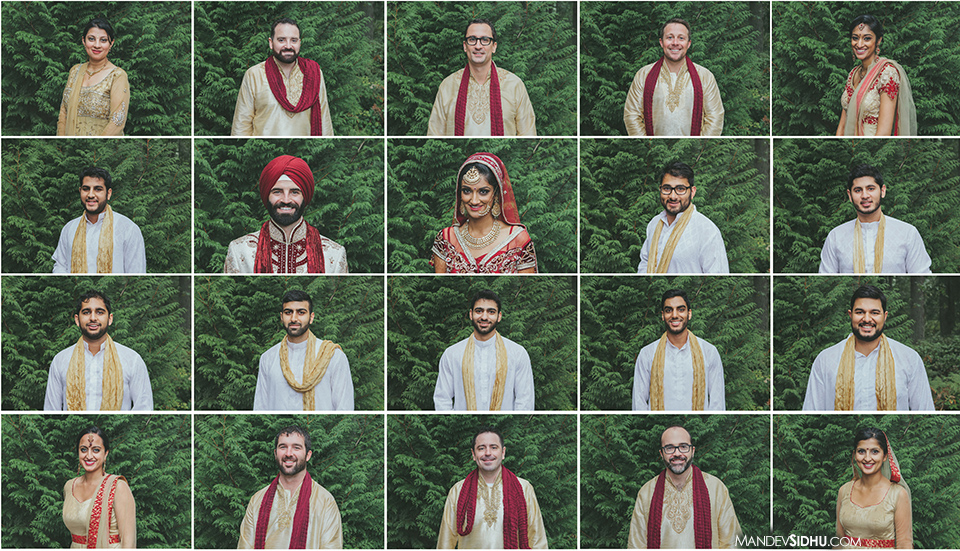 Indian, Sikh, and American Bridesmaids and Groomsmen