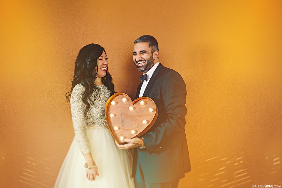 South Asian couple Ballard Engagement