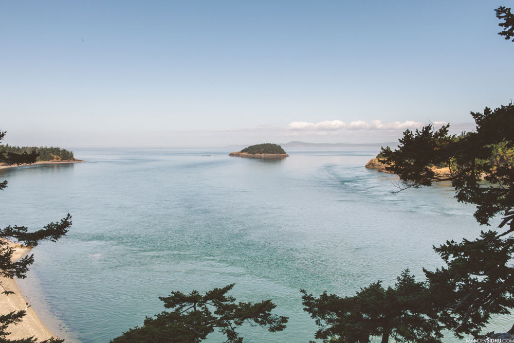 view of water from Deception Pass bridge