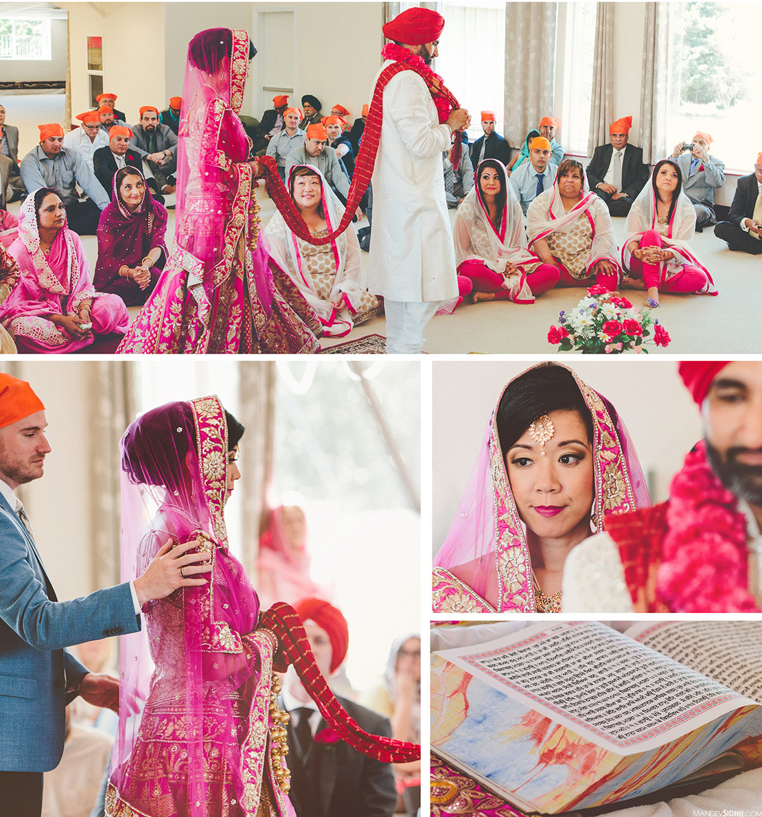 Indian fusion wedding at Sikh Center of Seattle