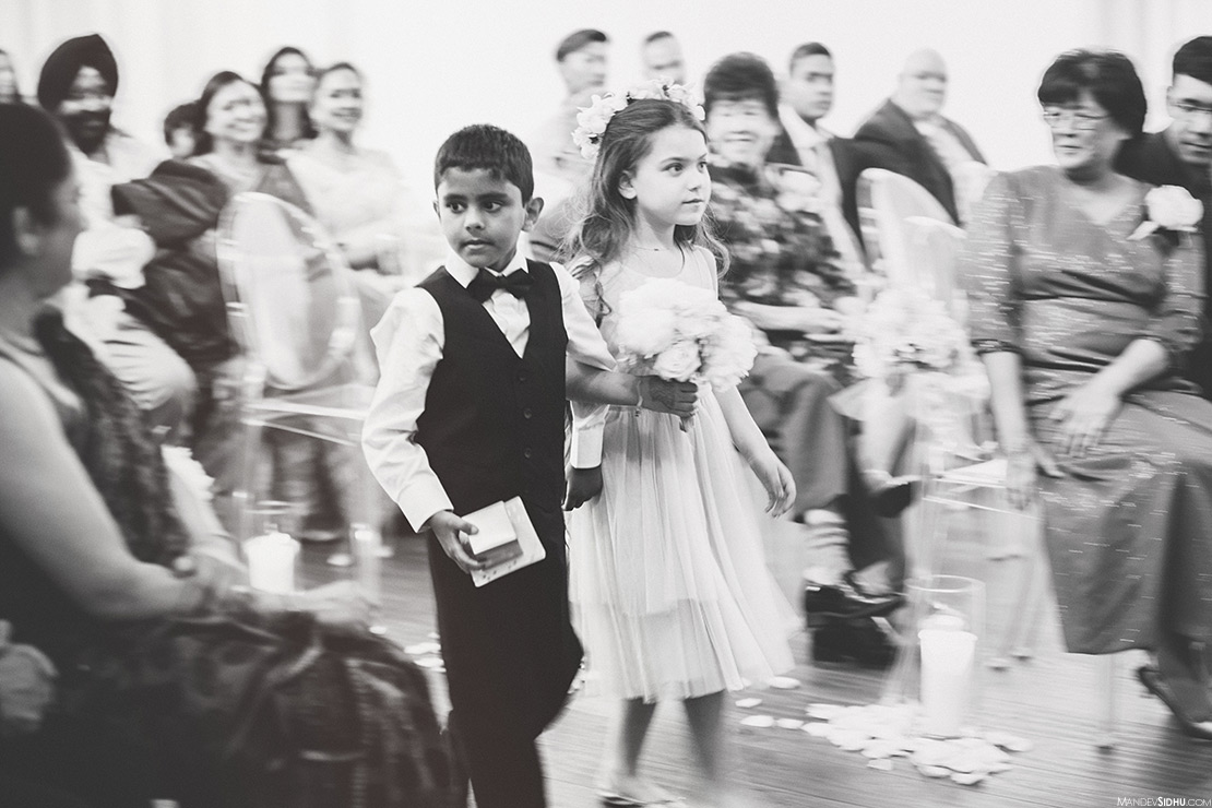Flower GIrl and Ring Bearer at multicultural wedding