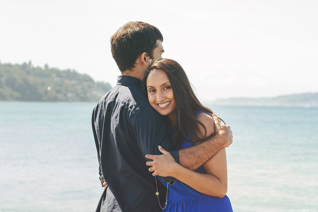 best engagement photography on the beach in Seattle