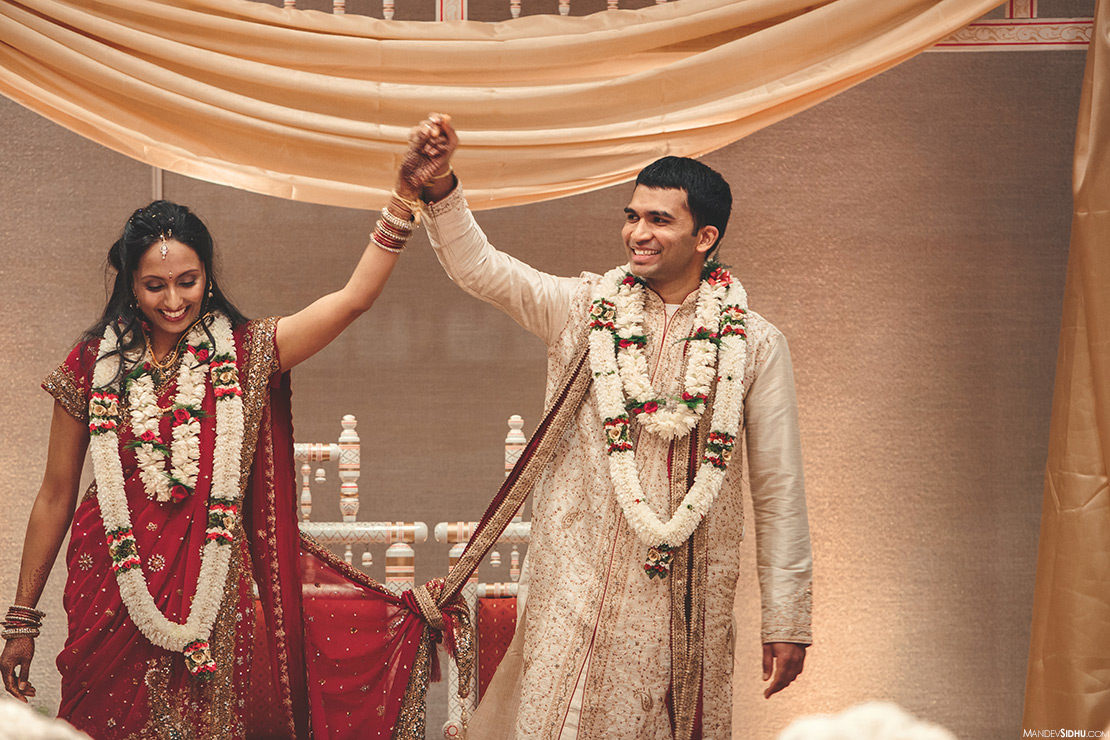 Hindu Bride and Groom are celebrating their marriage
