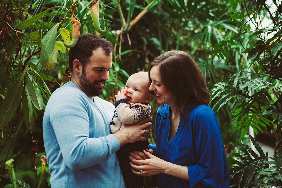 family photography at volunteer park conservatory