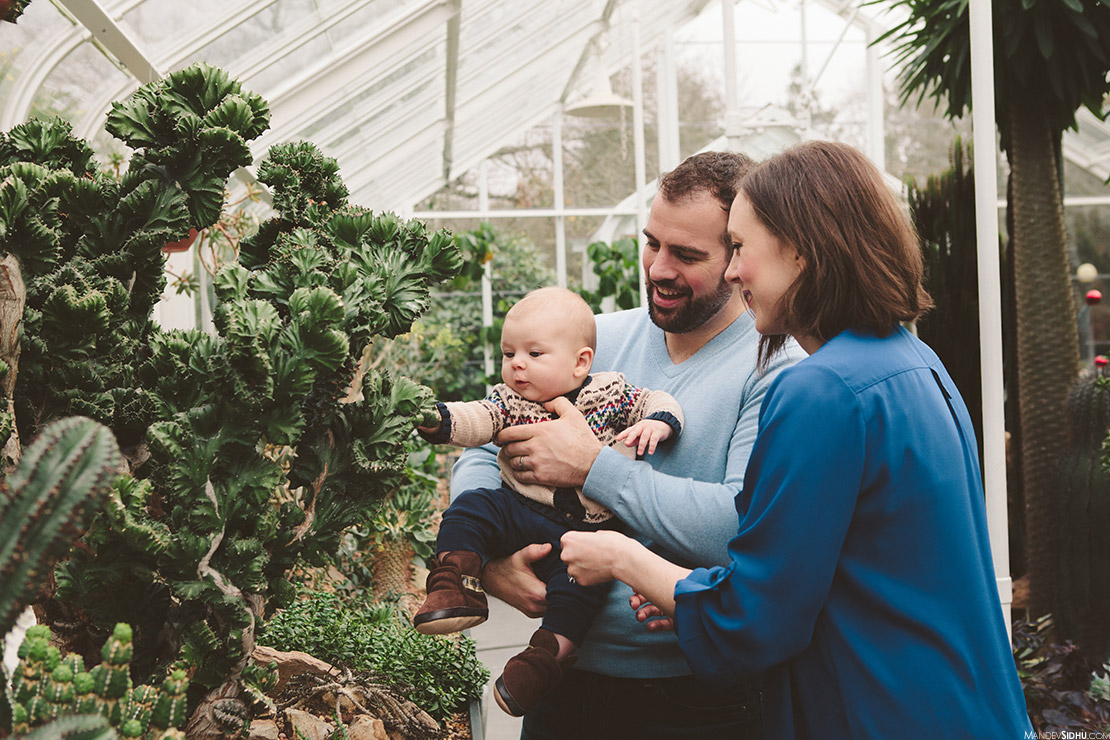 Family Photography Session at Volunteer Park Conservatory