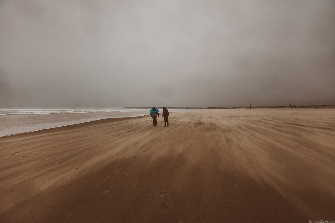 Sand Storm on Oregon Coast Beach - Mandev Sidhu Photography