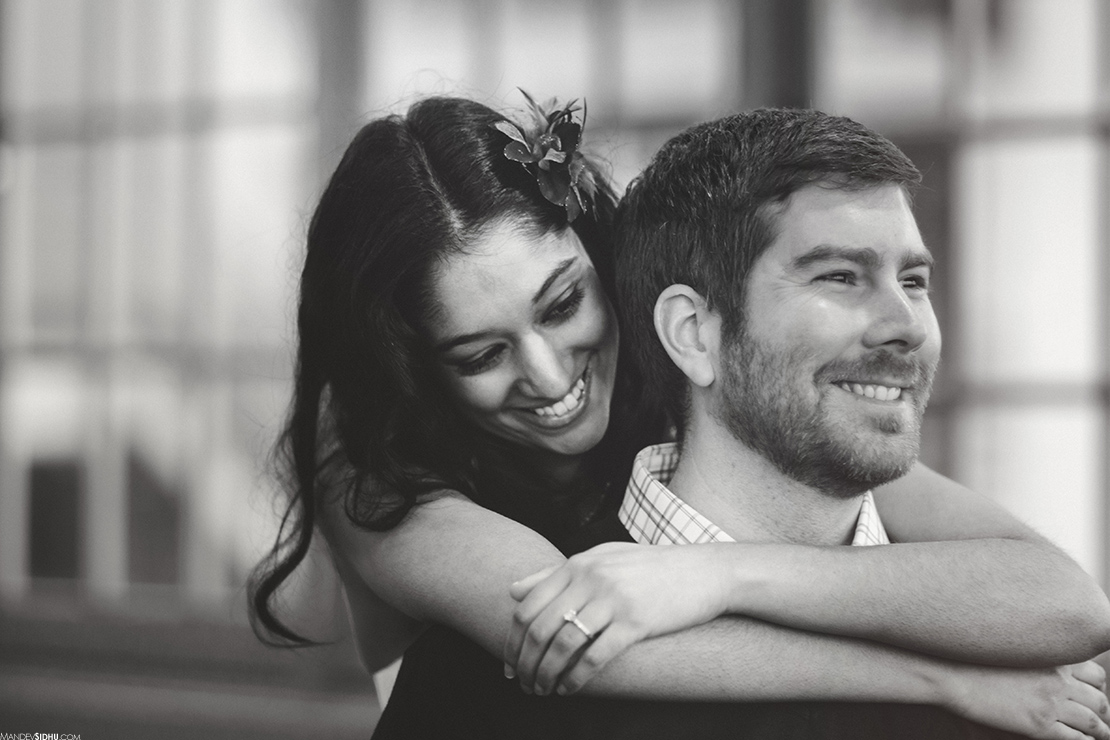 happy loving engagement photos in Seattle