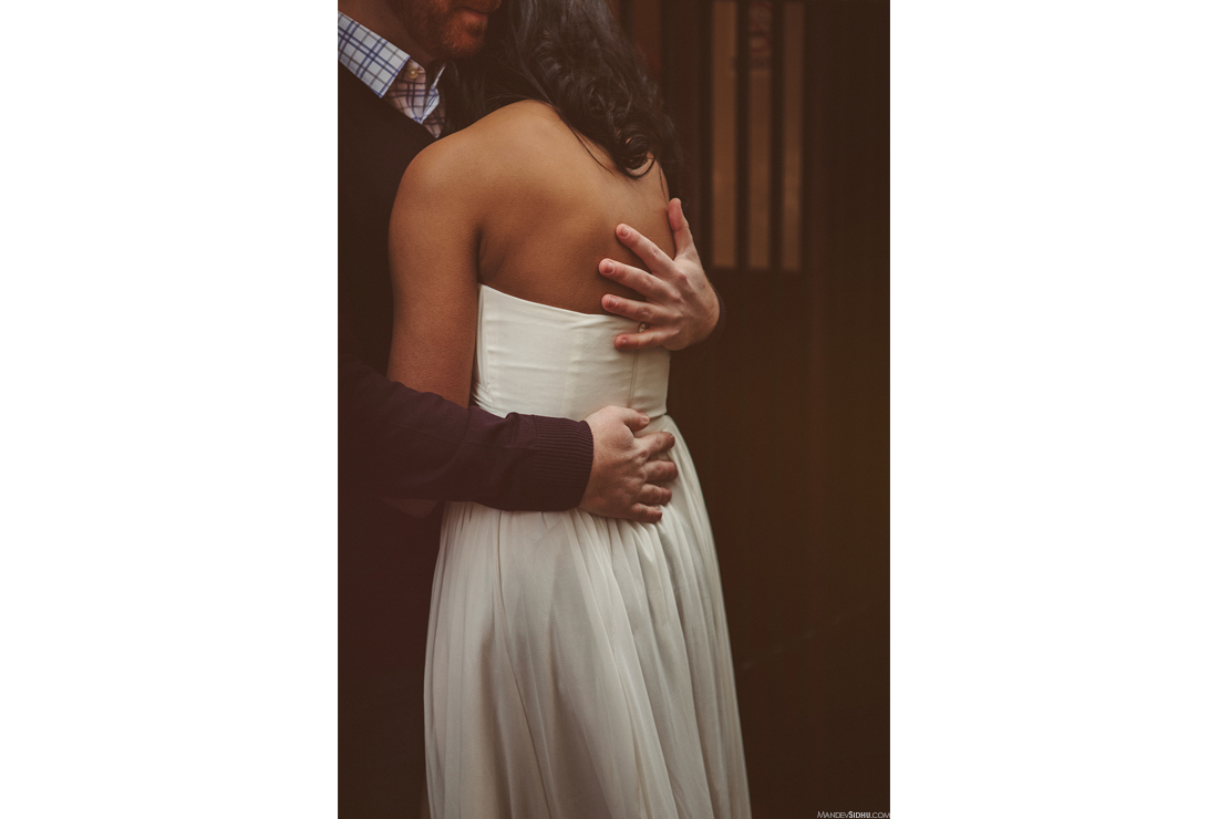 hugging engagement photos