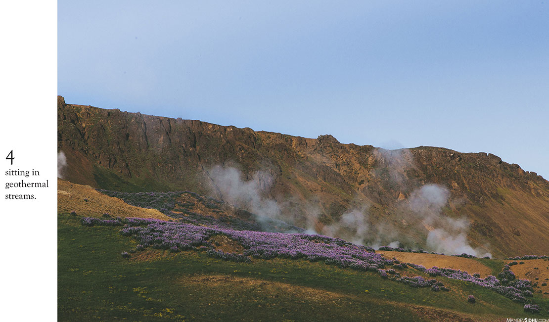 Geothermal Vents and Steam in Iceland