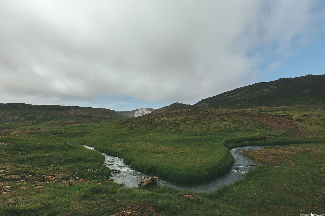 Natural hot springs in beautiful Iceland