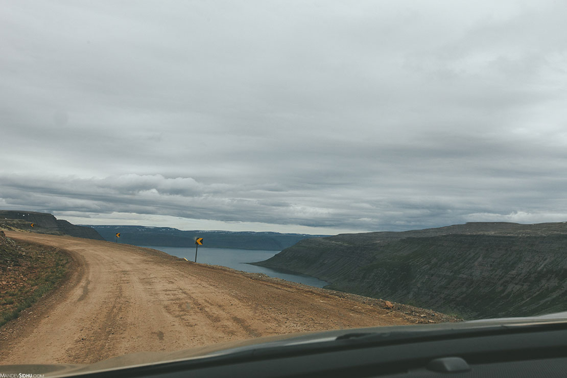 Driving dirt roads in Iceland's Westfjords