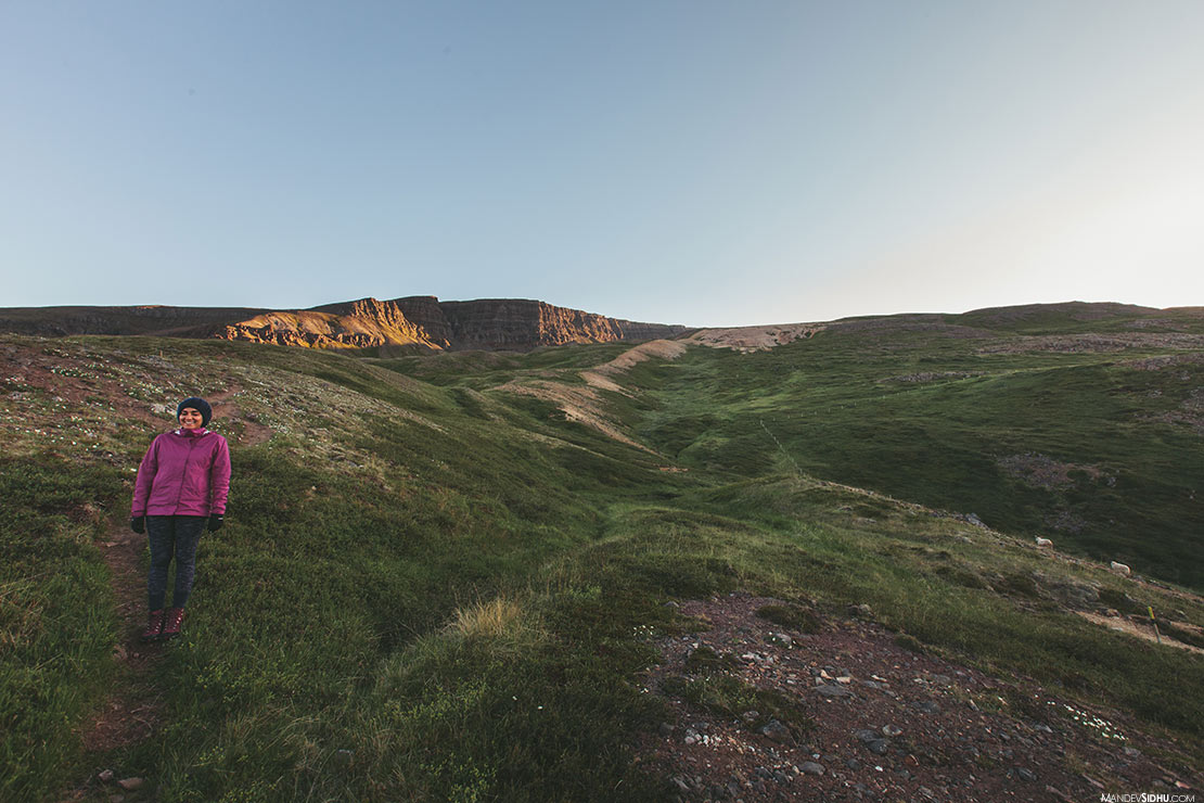 Summer Hike in Iceland Mountains